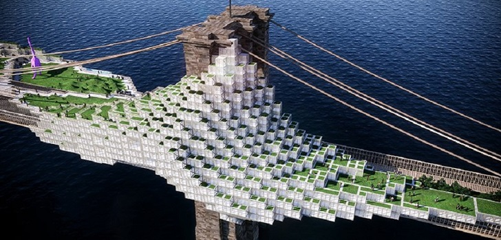 El puente de Brooklyn cobra vida