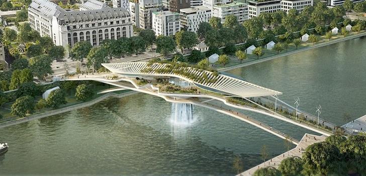 Una catarata sobre el Sena