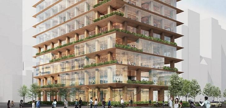 Tokio se suma a la fiebre de la madera: nuevo rascacielos en el kilometro cero de Japón