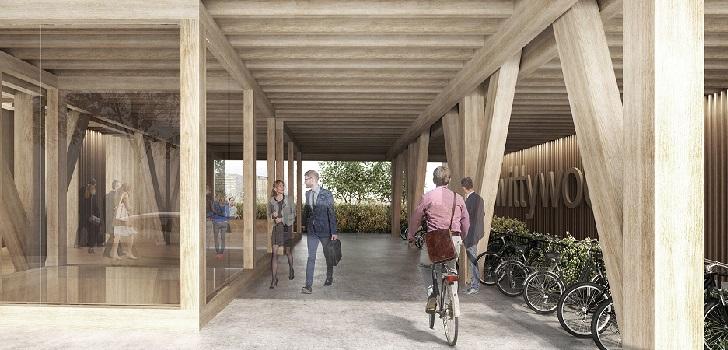 Colonial: doce millones para el primer edificio de oficinas de madera de España