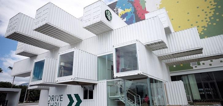 De cafés a 'containers': la cargotectura enamora a Starbucks