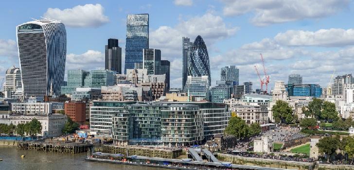 La contratación de oficinas en Londres, un 54% por debajo de su tasa media en 2020