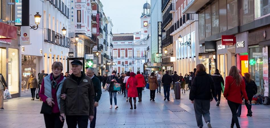 La afluencia en las calles comerciales desciende un 32% durante enero