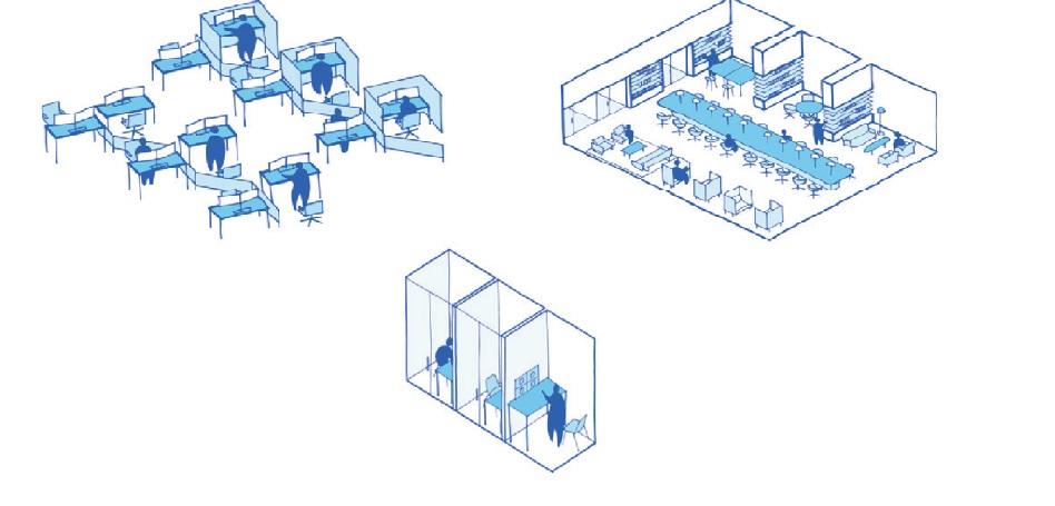 El 'open space' ha muerto: 'hot', 'cool' e 'in-between' en la oficina post-Covid